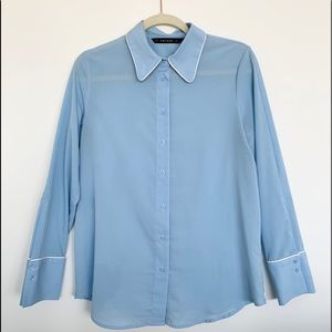 Zara Button Down Top with Piping details